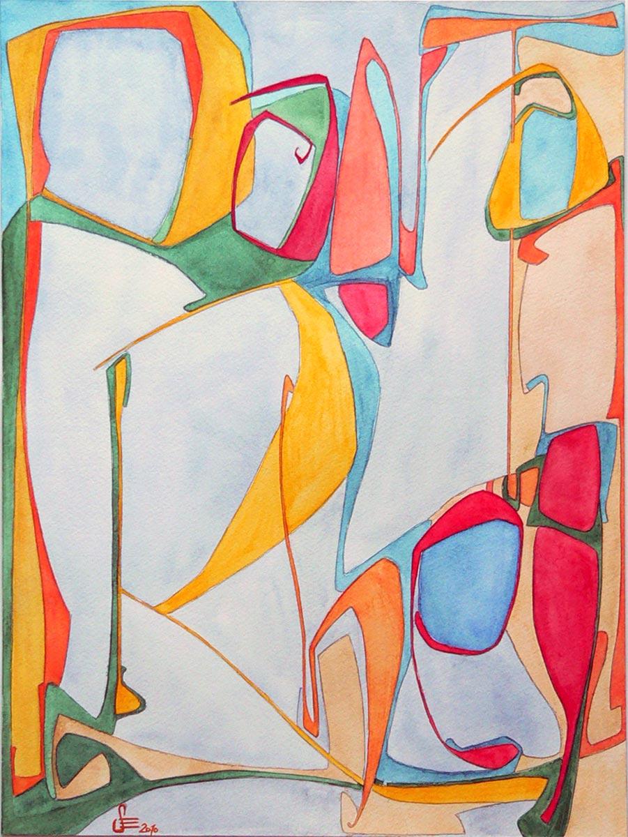 Panta Rhei Aquarell, 30 x 40 cm