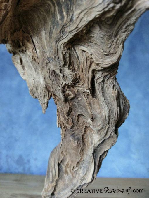Arisen, Verwitterte Wildholz-Wurzel, eiszeitlicher Granit-Lesestein