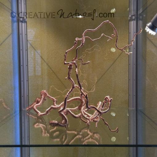 3D-Kupferlinie No. 3, Ansicht 2 Wildholz-Ast mit Kupferumwicklung