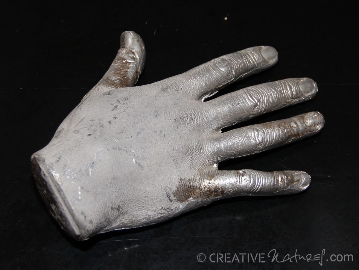 Zinnhand SL Oberseite