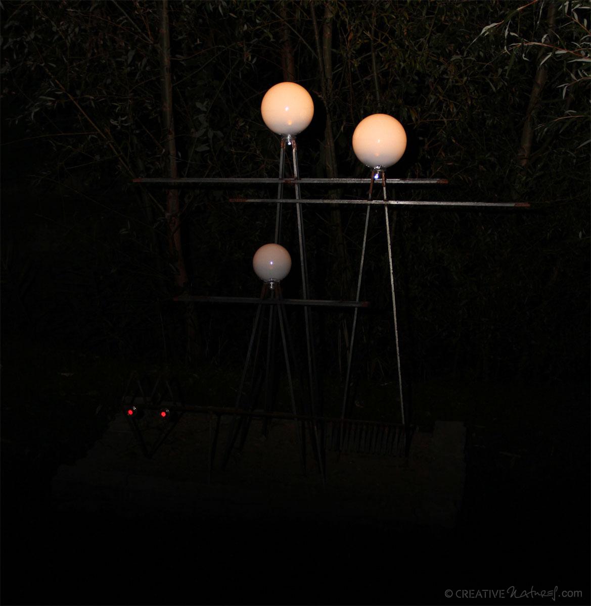 Lampenfamilie Bei Nacht