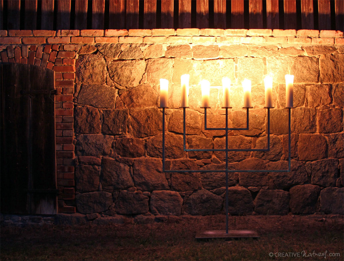Zappaleuchter Kerzenschein