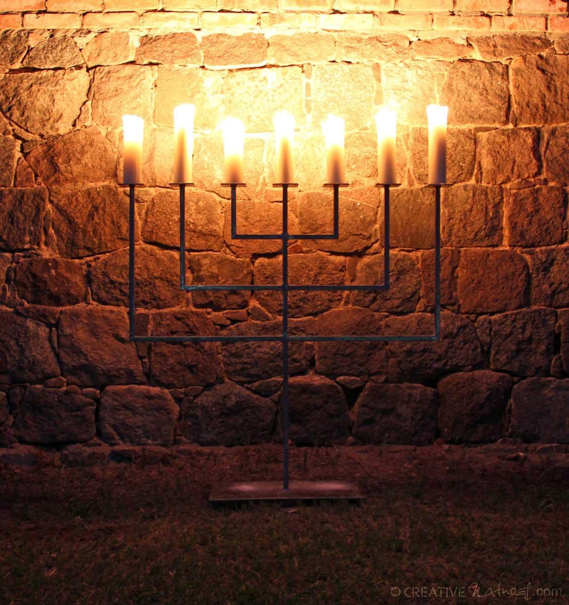 Zappaleuchter Kerzenschein Indunkelheit